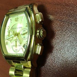 Michael Kors rectangular gold colored watch